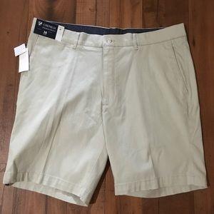 "Cremieux Madison Stretch Tan 8"" Golf Shorts New"